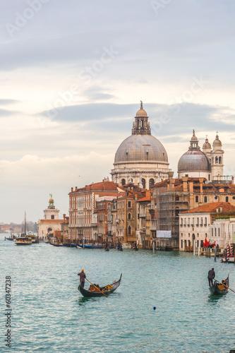 Poster Venice View of Basilica di Santa Maria della Salute,Venice, Italy