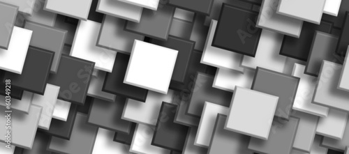 background overlapping Squares black and white - 60349218