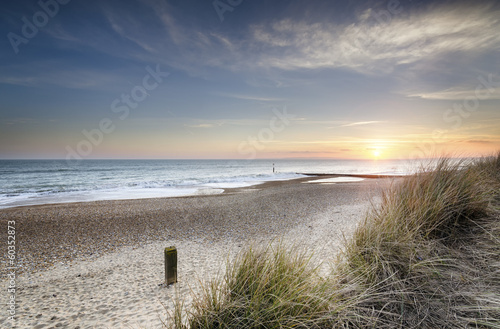Obraz Sunset and Sand Dunes - fototapety do salonu