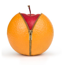 Diet Concept, Apple Inside Ora...