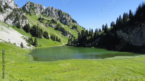 Fototapeta Lac d'Arvouin - Val d'Abondance (Haute-Savoie)