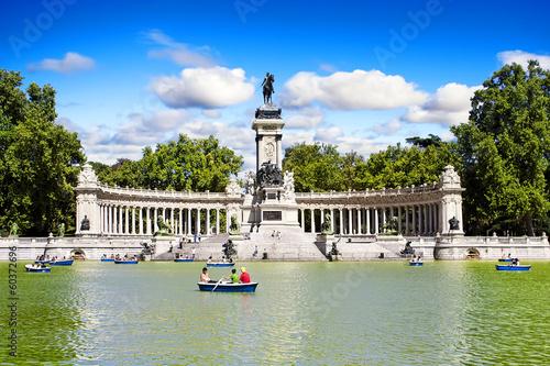 El retiro park in Madrid, Spain.
