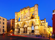 Evening view of Basilica of Our Lady of Grace. Cuenca