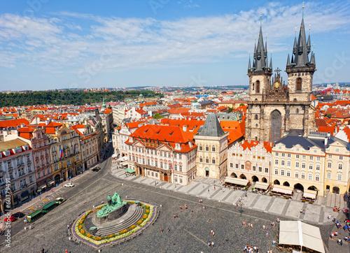 Staande foto Praag City landscape of Staromestskaya Square in Prague