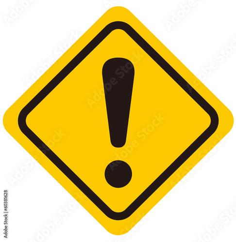 warning sign Vector Canvas Print