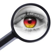 Auge Unter Der Lupe