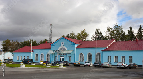 Photo Station Square in Apatity. North of Russia