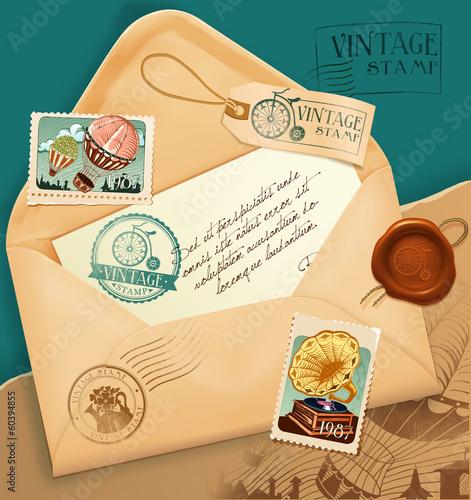 vintage-koperty-ze-znaczkiem-pocztowym
