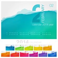 Vector Calendar Of 2014. Uniqu...