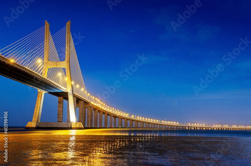 Photo  Vasco da Gama bridge, Lisbon, Portugal