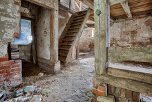 Interior Of An Old, Decaying B...