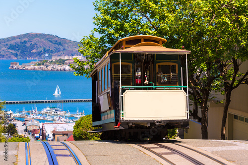 Tuinposter San Francisco San francisco Hyde Street Cable Car California