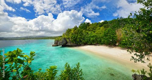 Photo  Beautiful lagoon with white sand. Philippines