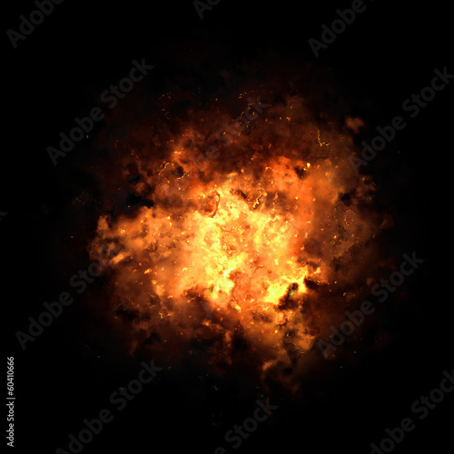Fiery Exploding Burst Canvas Print