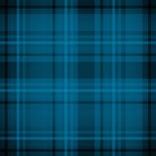 Blue Plaid Fabric Pattern