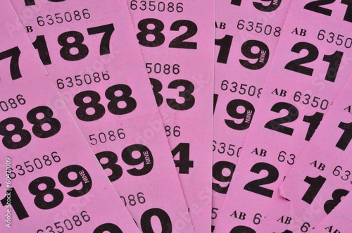 Fotomural Purple raffle tickets spread out