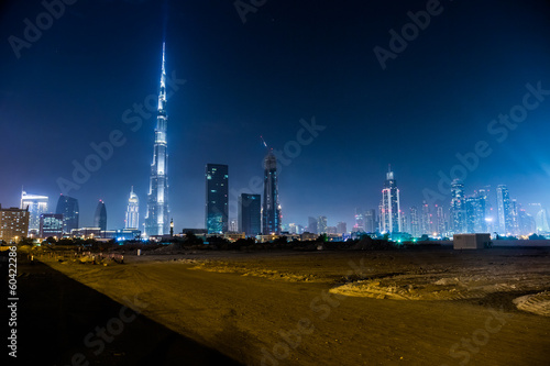 Fotografie, Obraz  Dubai panorama and Burj Khalifa is currently the tallest buildin