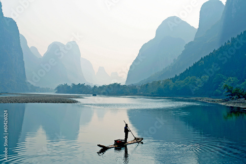 Autocollant pour porte Chine the Guilin Scenery