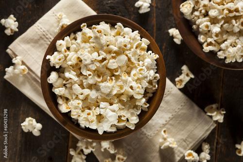 Fotografía  Healthy Buttered Popcorn with Salt