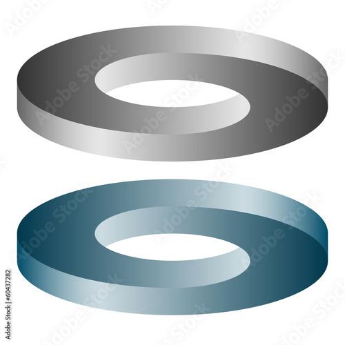 Canvas Print optische Täuschung