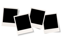 4 Polaroids Mit Schatten In Reihe