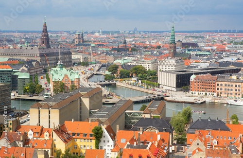 View of Copenhagen from Vor Frelsers Kirke Poster