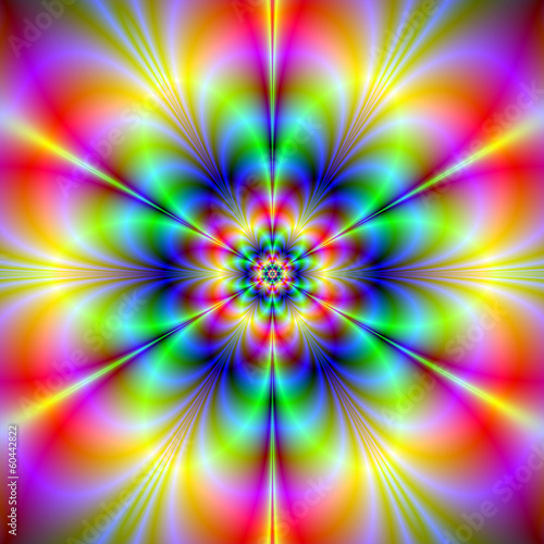Poster Psychedelic Floral Psychedelia