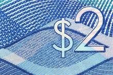 2 Dollar Banknote Aus Barbados