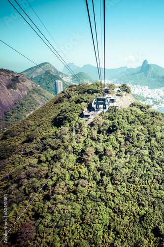 The cable car to Sugar Loaf in Rio de Janeiro Canvas Print