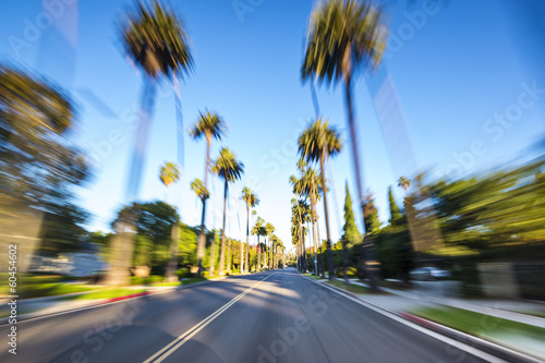 Poster  Beverly Hills Motion Blur