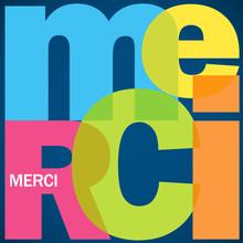 """Mosaïque De Lettres """"MERCI"""" (carte Message Joie Remerciements)"""