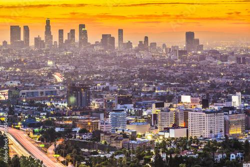 Staande foto Los Angeles Downtown Los Angeles, California Skyline