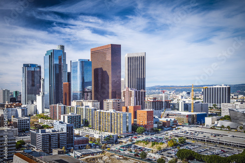 Poster Los Angeles Downtown Los Angeles, California Skyline