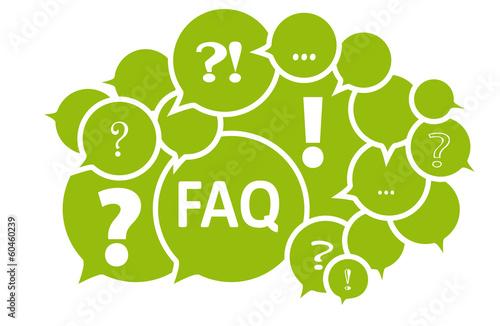 Fotografía  FAQ Fragen Frage - Vektor