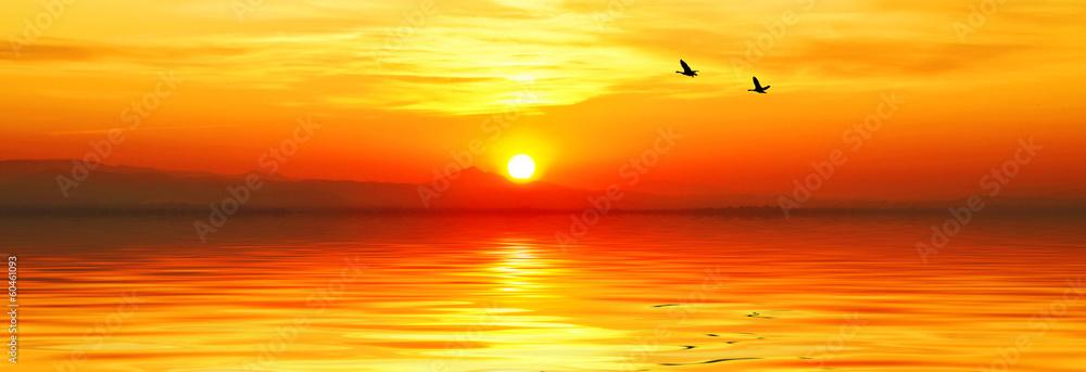 Fototapeta puesta de sol panoramica