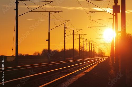 Poster Voies ferrées Railroad - Railway