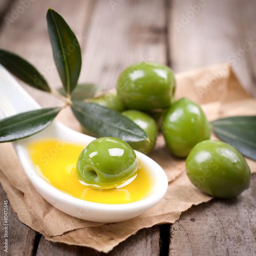 Grüne Oliven фототапет