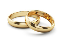 Golden Rings Isolated