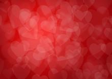 Valentine's Day Red Hearts Background
