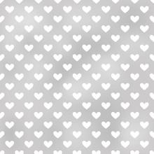 Seamless Grey Heart Textured Background
