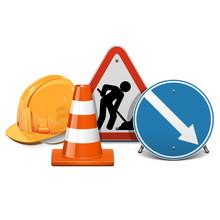 Vector Road Construction Concept