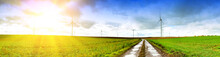 Panoramic Landscape With Country Road