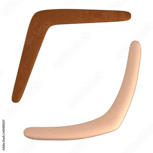 Photo realistic 3d render of boomerangs