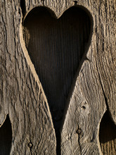 Heart Shaped Carving On Wood