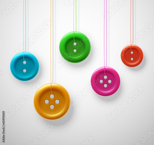 Foto  Colorful sewing buttons