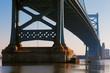 View of Philadelphia's Ben Franklin bridge