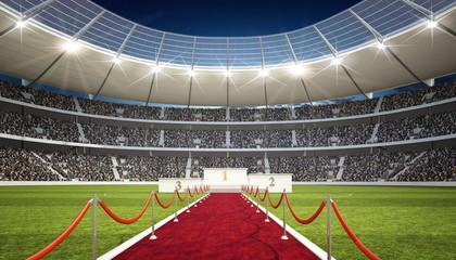 Fototapeta stadion z podium