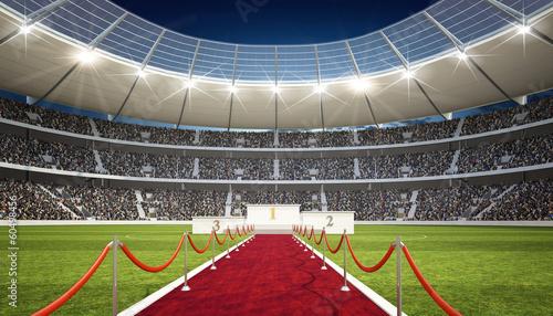 Obraz na plátně  Stadion mit Siegertreppe