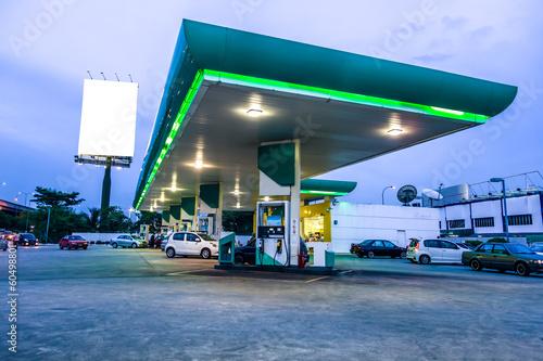 Fotografie, Obraz  Gas station at night