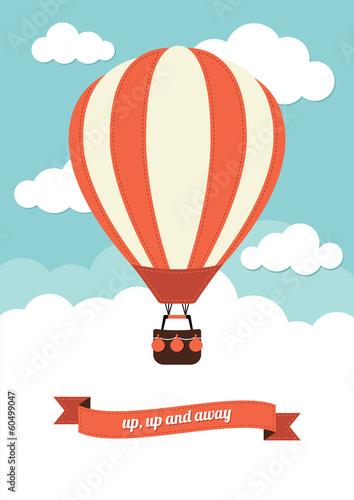 Tableau sur Toile Hot Air Balloon Vintage Graphic